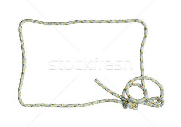 Rope Frame On White Stock photo © cosma