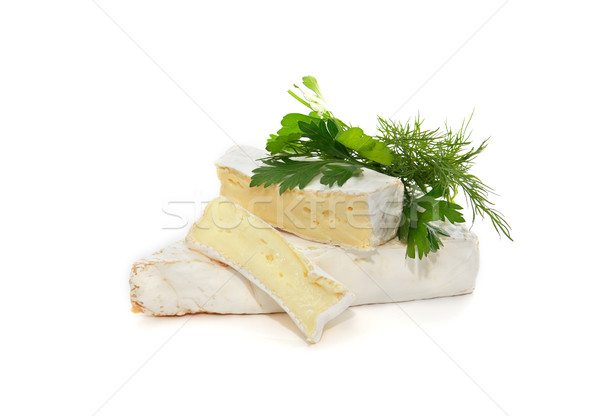Brie Cheese On White Stock photo © cosma