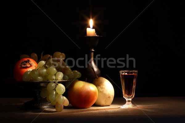Fruits And Candle Stock photo © cosma