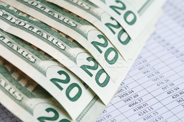 Financeiro escrituração EUA dólar banco Foto stock © cosma