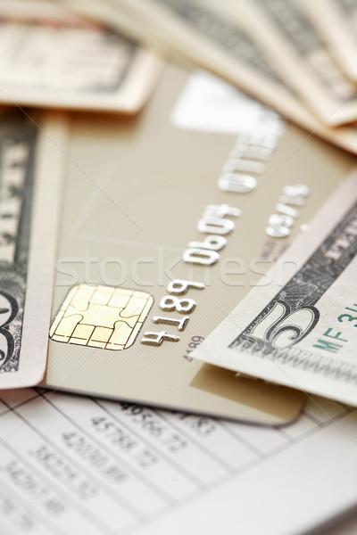 Soldi carta di credito carta sfondo tavola Foto d'archivio © cosma