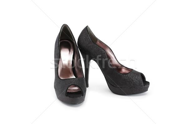 élégant noir blanche chaussures Photo stock © cosma