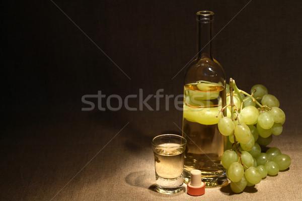 Italiano vodka vidrio completo de uva vino Foto stock © cosma