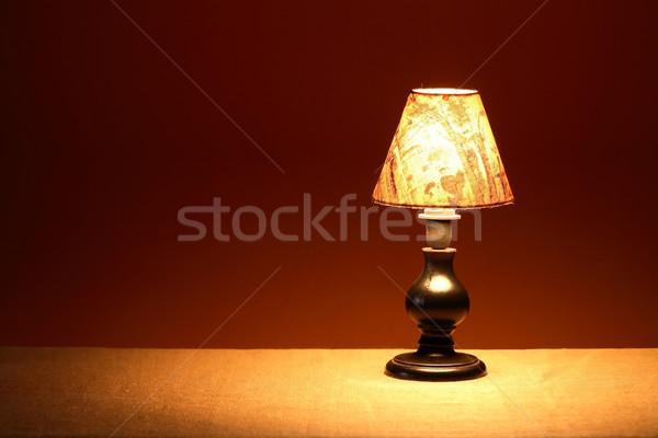 Glowing Table Lamp Stock photo © cosma