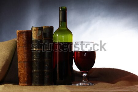 Skull And Wine Stock photo © cosma