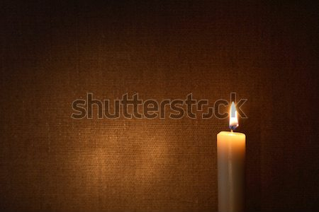 Stock photo: Lighting Candle