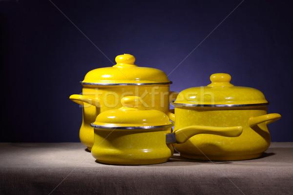 Saucepans Set Stock photo © cosma