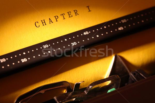 Literatura inspiração elétrico máquina de escrever amarelo Foto stock © cosma