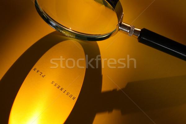 Negocios planificación lupa papel superficie plan Foto stock © cosma