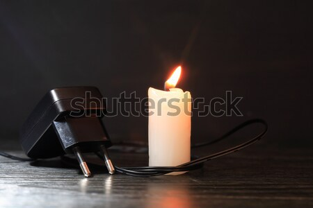 Charger And Candle Stock photo © cosma