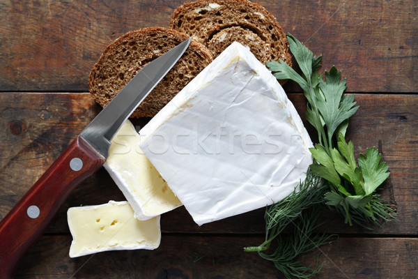 Brie Cheese On Wood Stock photo © cosma