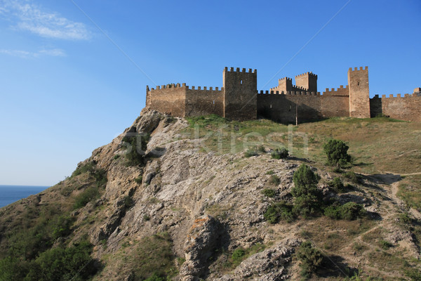 Fortress On The Rock Stock photo © cosma