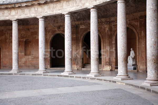 Foto stock: Alhambra · arquitetura · palácio · fundo · viajar · história