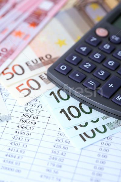 Calculator And Money Stock photo © cosma