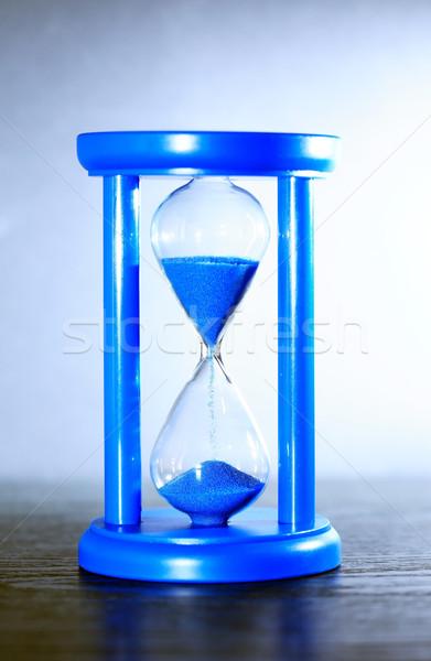 Mavi kum saati zaman kum güzel Stok fotoğraf © cosma