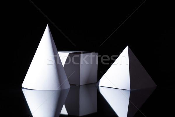 Geométrico formas escuro geometria conjunto Foto stock © cosma