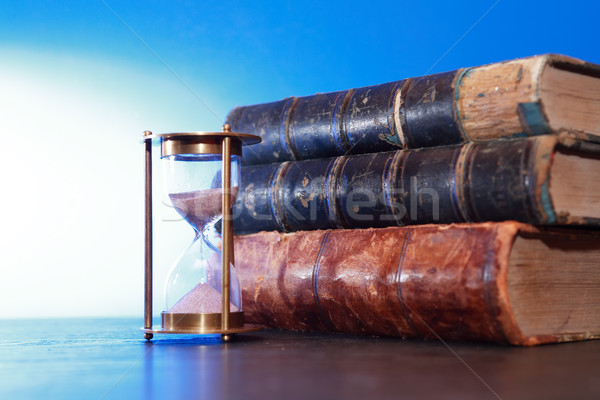 Hourglass And Books Stock photo © cosma