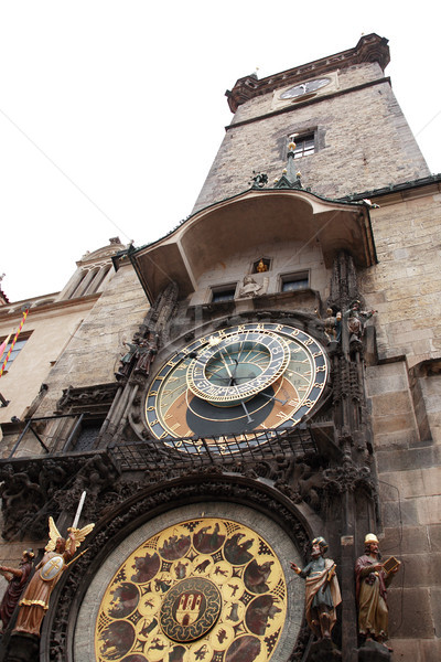 Praag stadhuis beroemd toren sterrenkundig klok Stockfoto © cosma