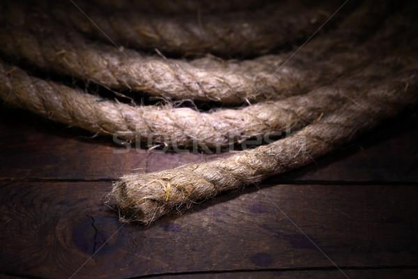 Rope On Wood Stock photo © cosma
