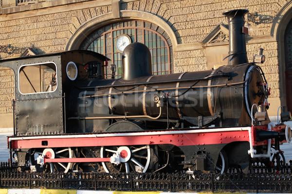 Vieux locomotive célèbre gare Istanbul coucher du soleil Photo stock © cosma