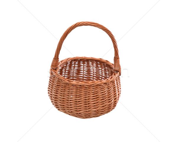 Wicker Basket On White Stock photo © cosma