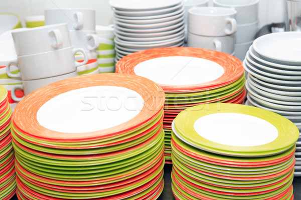 Clean Dishware Set Stock photo © cosma
