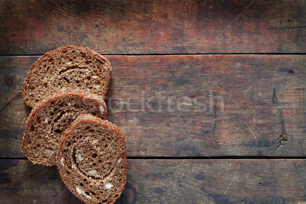Sliced Bread On Wood Stock photo © cosma