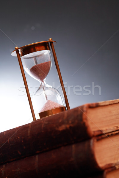 Hourglass On Book Stock photo © cosma