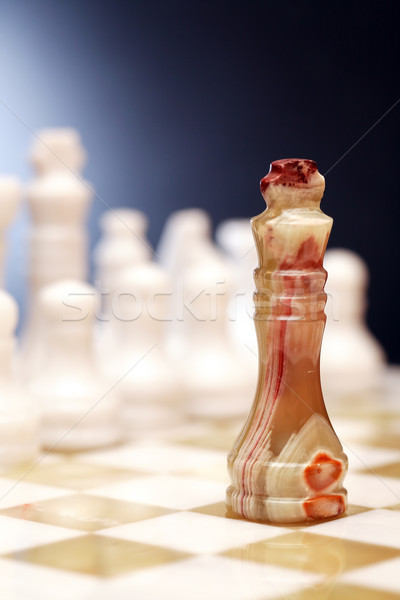 Chess Pieces On Board Stock photo © cosma