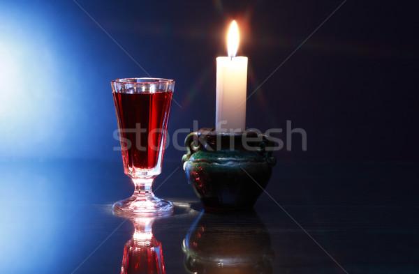 Liquor And Candle Stock photo © cosma