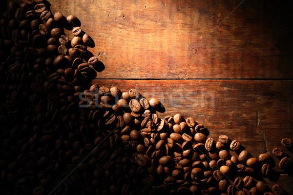 Kávé fa szép fából készült nyaláb fény Stock fotó © cosma