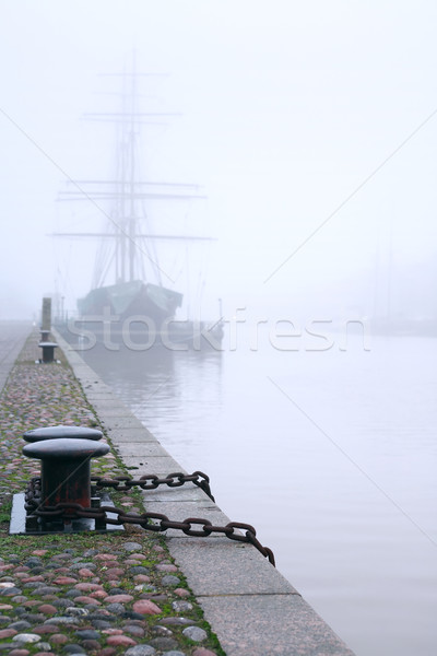 Stock photo: Ship In Fog