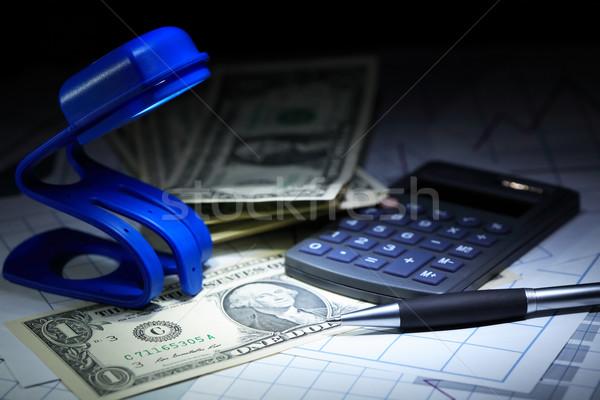 Financieros teneduría de libros primer plano uno dólar notas Foto stock © cosma