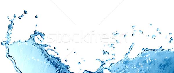 Csobbanás szép absztrakt kék cseppek hullám Stock fotó © cosma