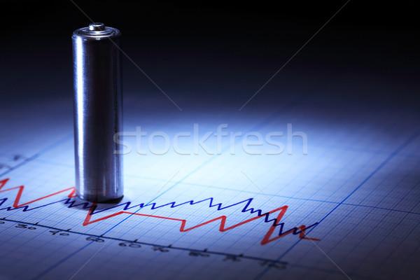 Battery On Diagram Stock photo © cosma