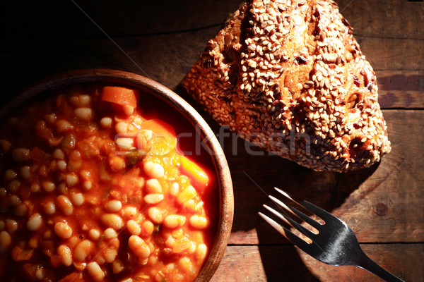 Stewed Beans And Bread Stock photo © cosma