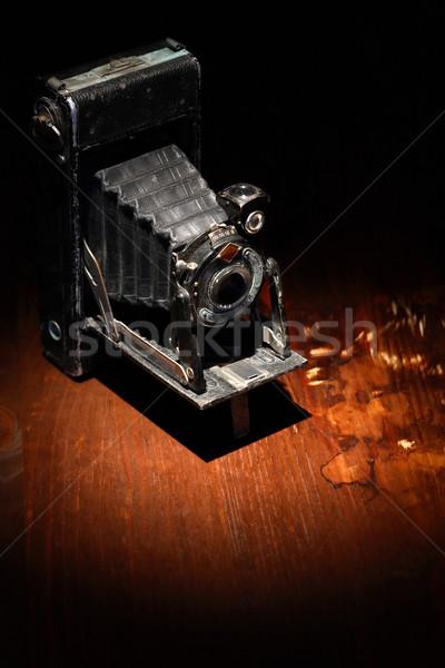 öreg film kamera közelkép szép fából készült Stock fotó © cosma