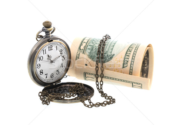 Tijd is geld zakhorloge USA bank merkt business Stockfoto © cosma