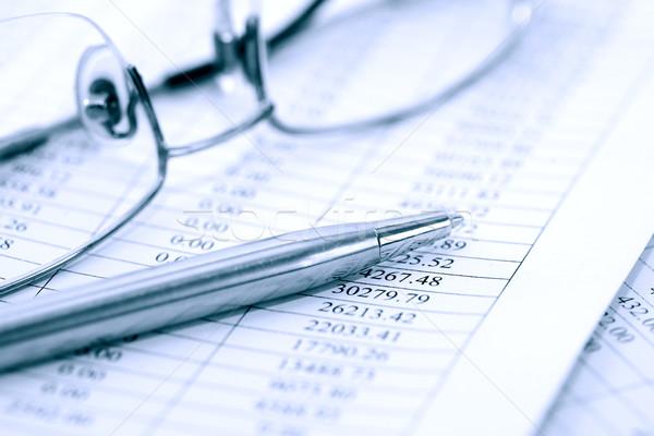 Occhiali pen business ricerca primo piano carta Foto d'archivio © cosma