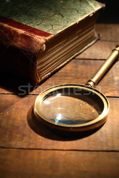 Magnifying Glass And Book Stock photo © cosma