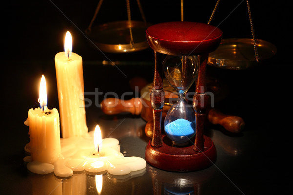 Hourglass And Candles Stock photo © cosma