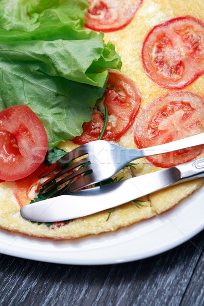 Omelet With Tomatoes Stock photo © cosma