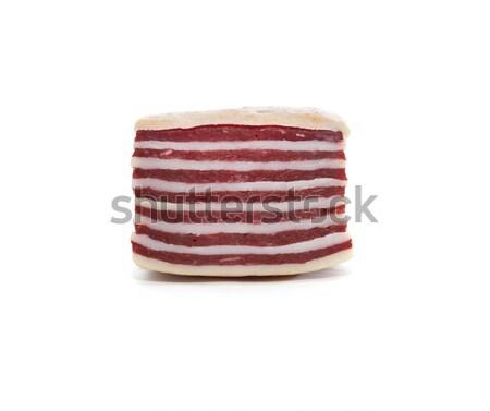 Domuz pastırması beyaz domuz eti et yeme Stok fotoğraf © cosma