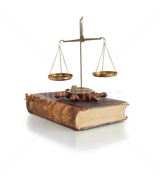Code wetten wetgeving oude messing gewicht Stockfoto © cosma
