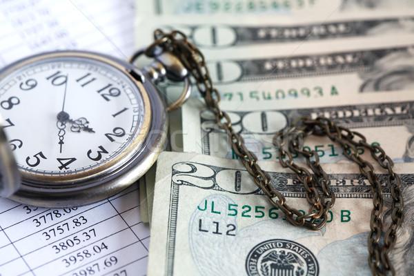 Vakit nakittir dolar banka notlar açmak Stok fotoğraf © cosma