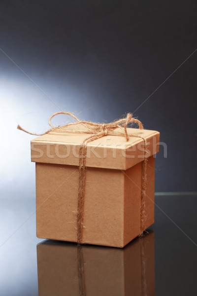 ボックス 暗い 紙 ショッピング ストックフォト © cosma