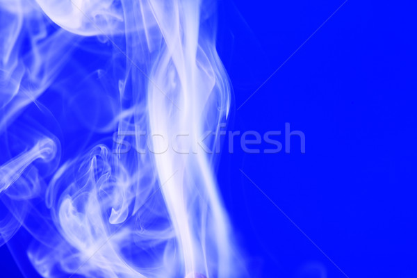 Smoke On Blue Stock photo © cosma