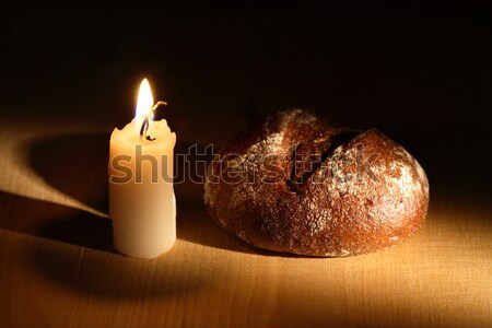 Bread And Candle Stock photo © cosma
