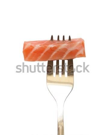 Salmon On Fork Stock photo © cosma