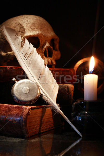 Old Books And Skull Stock photo © cosma